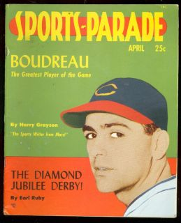 Sports Parade 1 April 1949 Lou Boudreau Babe Ruth Kentucky Derby FN