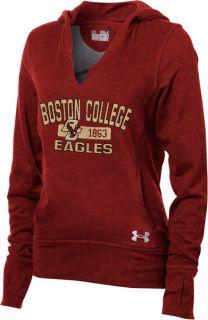 Boston College Eagles Womens Under Armour Signature Hooded Sweatshirt