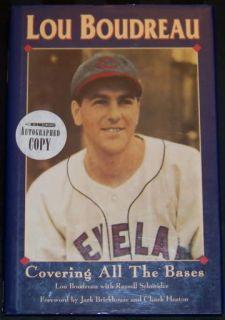 Lou Boudreau Signed Autographed Baseball Book JSA LOA