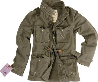 Ladies Surplus Vintage Tailored Fashion Army M65 Jacket