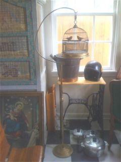 Hendryx Victorian Brass Bird Cage,Collectibles,Metalware,Home & Garden