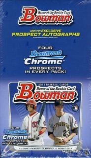 2012 Bowman MLB Baseball Huge Jumbo Rack Factory SEALED Box with 18