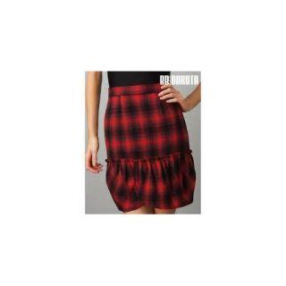 New Womens Jack BB Dakota Michie Red Plaid Pencil Above Knee Skirt