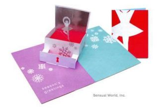 Beautiful SABUDA POP UP Music Box Ballerina Christmas Note Card