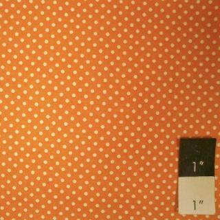 Rosanna Bowles RB03 Darjeeling Swiss Dot Orange Fabric By Yd