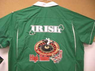 Irish High Rollers Kelly Green Retro Bowling Shirt Suds