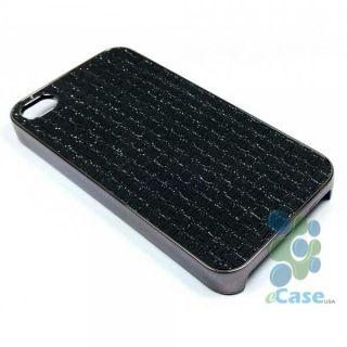 Luxury Black Glitter Sparkle Quilt Brick Chrome Hard Snap Case Cover
