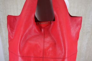 Givenchy George V Apron Bag Tote Red Leather Extra Large Satchel Purse