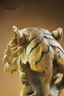 Large Resin Big Cat Tiger Head Bust Statue 11High