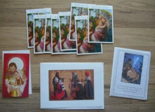 religious theme christmas greeting cards huge lot unused nos boxed set