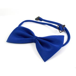 Deep Blue Bow Tie Dickie Bow Bowties Clip On Solid Colour Plain Satin
