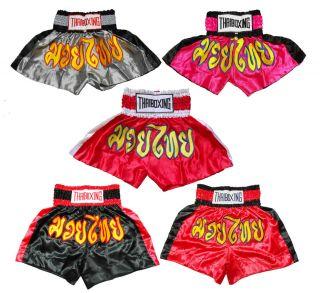 Muay Thai Kick Boxing Shorts Trunks Adult Kid Children 2COLORED