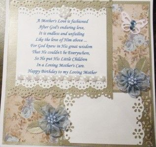 HANDMADE MAGNOLIA TILDA   HAPPY BIRTHDAY MOM   boxed easel card   SSDT