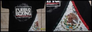 Pueblo Boxing Mexico Flag Black T Shirt Cleto Reyes Grant Everlast