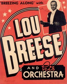 Big Band Poster Lou Breese and Orchestra Unique