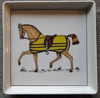 Authentic Tiffany & Co Porcelain Horse Coaster by Jacques Lobjoy #417