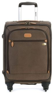 Boyt Edge 22 Expandable Spinner Carry On 4 Wheel Rolling Luggage Brown