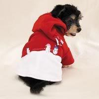 Fleece Snowman Dog Hoodie M Medium Jacket Sweater Costume Pet