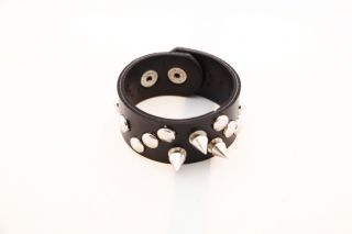 Foreplay Studded Spiked Leather Bracelet MSRP $44 00