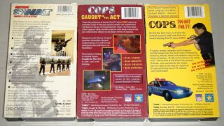 COPS VHS 3 MOVIE COLLECTION: Too Hot For TV, Caught In The Act