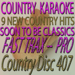 407 Country Tracks Karaoke CD G Fast Trax from Quik Hits Great Audio