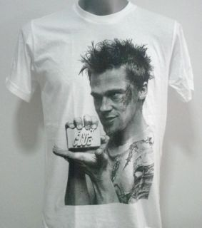 Brad Pitt Fight Club Retro Rock T Shirt White Size M