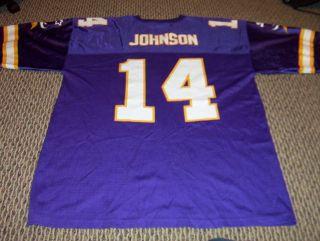 Vintage Brad Johnson Minnesota Vikings NFL Starter Authentic Jersey