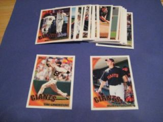 2010 Topps San Francisco Giants Team Set with Update Buster Posey