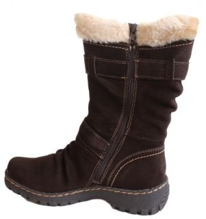 Bare Traps Brandlee Womens Dark Brown Suede Mid Calf Boots Medium