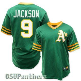 Reggie Jackson Oakland Athletics Cooperstown Green Jersey Mens Sz s