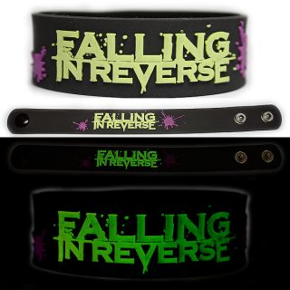 Falling in Reverse Rubber Bracelet Wristband Glow in The Dark Ronnie
