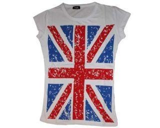 Shirt Union Jack British Flag Cute Women T Shirt UK Great Britain