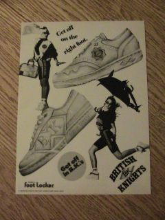 1989 British Knights Advertisement Right Foot Shoe Ad
