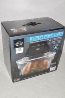 Sharper Image Black Cooker Convection Oven   Super Wave 8217