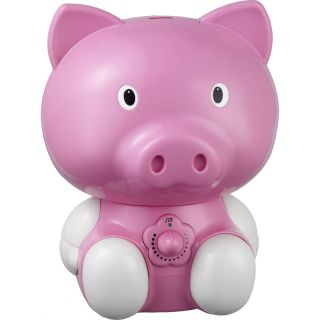Cool Mist Pink Pig Animal Humidifier Portable Kids Baby Mini