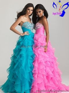 2013 Prom Formal Wedding Bridal Party Dresses Quinceanera Ball Gown
