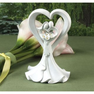 Wedding Cake Toppers Calla Lily Wedding Love Embrace Bride and Groom