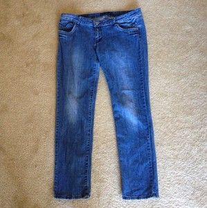 La Idol USA Brand Jeans Womens Size 15 Medium Wash Straight Leg Low