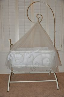 Bratt Decor baby cradle wrought iron bassinet rocking elegant WOW