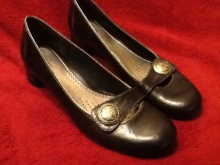 Clarks Womens Brightwood Black Shoes Size 8
