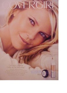 Christie Brinkley CoverGirl Womens Make Up Photo Ad