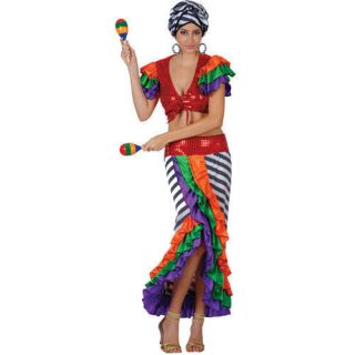 Ruffle Dress on Girls Brazil Carnival Ruffled Dress Womens Costumes Handmade Cumbia