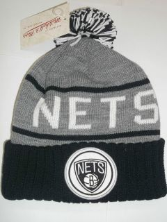 AUTHENTIC NBA MITCHELL & NESS BROOKLYN NETS KNIT BEANIE GORRO