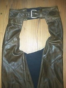 Harley Davidson Brown Leather Women Chaps