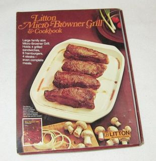 Vintage Litton Brand Micro Browner Grill Microwave Cooker Steak Burger