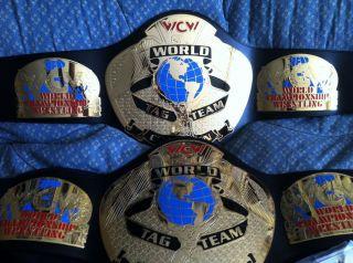 WWE WWF ECW WCW Tag Team Wrestling Championship Replica Title Belts