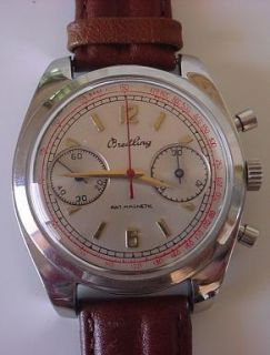 Vintage Breitling Chronograph Stainless Steel Case