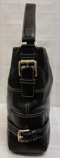 Authentic Michael Kors Brookville Large Black Leather Shoulder Bag