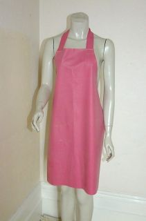Rubber Apron Latex Silicone Mix Pink Sissy Roleplay Overall Waterproof