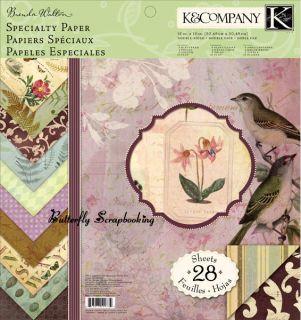 Brenda Walton Flora Fauna Scrapbooking 12x12 Paper Pad 28 Sheets K
